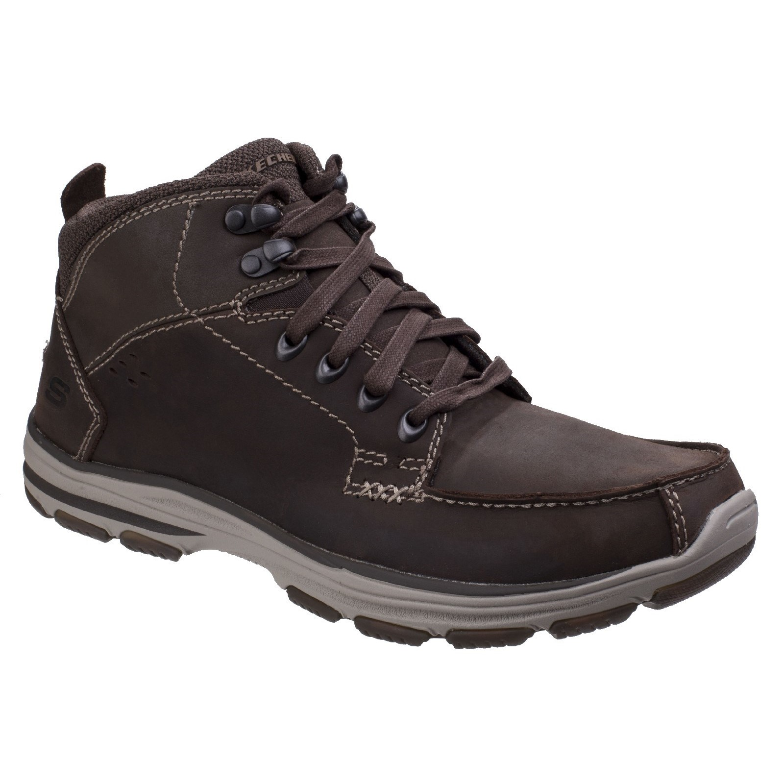 Skechers SK65169 Garton Dodson chocolate brown lace up boot size 6